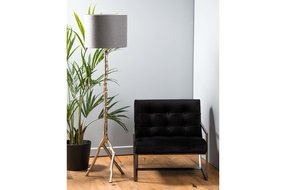 Light en Living Light & Living Kap cilinder 30-40-40 Livigno donker grijs