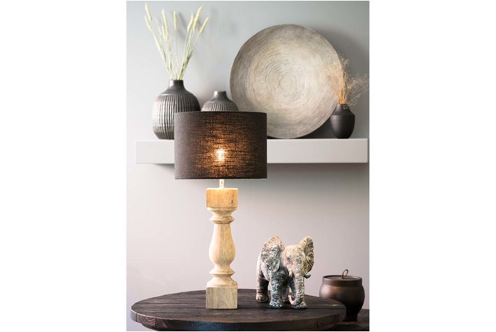 Light en Living Light & Living Lampvoet 10x10x38 cm CUMANI hout weather barn