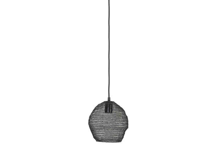 Light en Living Light & Living Hanglamp Ø18x20 cm NOLA gaas glans zwart