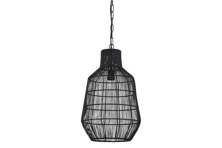 Light en Living Light & Living Hanglamp Ø34x55 cm HAISEY mat zwart