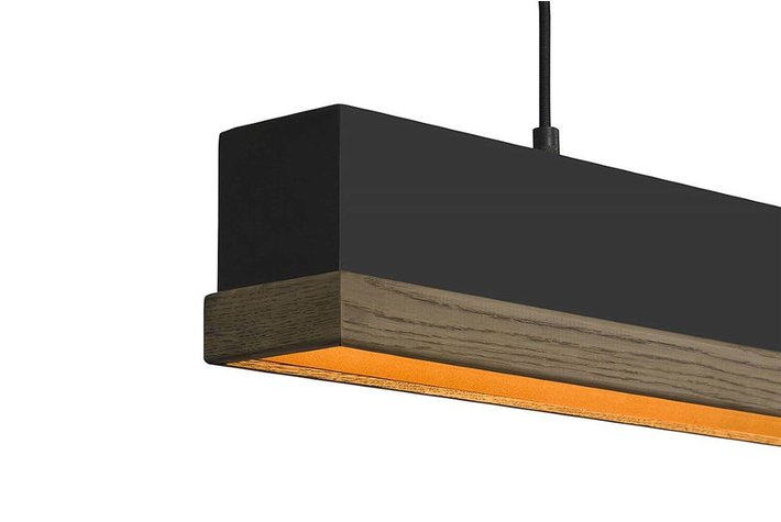 Frezoli Lighting by Tierlantijn Frezoli hanglamp Simfano Licht Eik Mat Zwart L.226.2.600