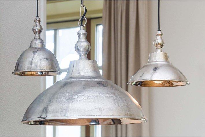 Light en Living Light & Living Hanglamp Ø21,5x19 cm ANIEK ruw nikkel