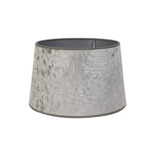 Light & Living Kap drum recht 30-25-19 cm CHELSEA velours zilver