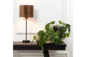 Light en Living Light & Living Lampenvoet houston S mat zwart