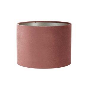 Light & Living Kap cilinder 30-30-21 cm VELOURS dusky pink