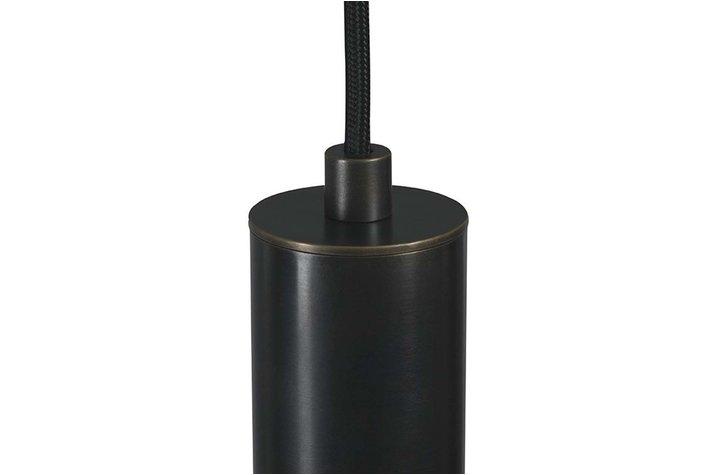 Frezoli Lighting by Tierlantijn Frezoli hanglamp Tubino 1 Buis Donkerbruin Zwart Finish L.222.1.150