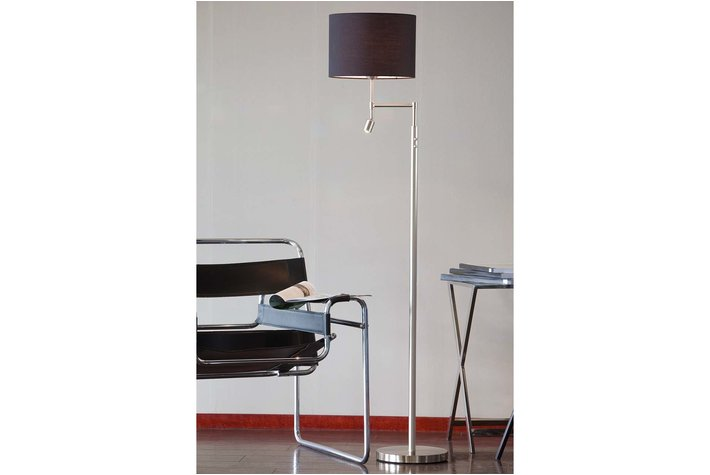 Light en Living Light & Living Vloerlamp montana nikkel satijn