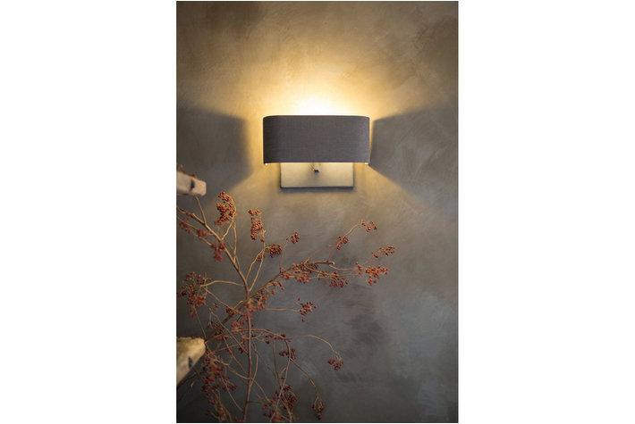 Frezoli Lighting by Tierlantijn Frezoli Kap Half Recht Grijs Linnen 35 cm K.035.12.658