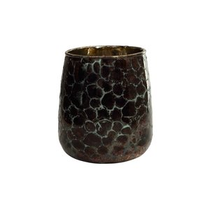 Christmas Joelle black print glass stormlight S