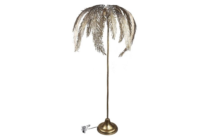 PTMD Cute Gold iron floor lamp palm tree long
