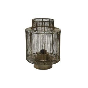 PTMD Zezz Brass wire round standing lamp