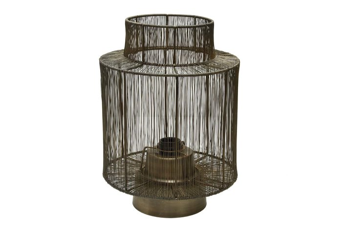PTMD PTMD Zezz Brass wire round standing lamp