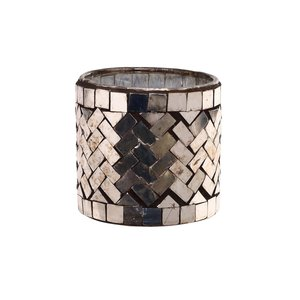 PTMD Aleksi Copper glass mosaic stormlight round S