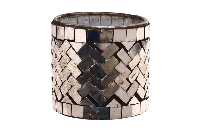 PTMD PTMD Aleksi Copper glass mosaic stormlight round S