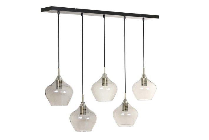 Light en Living Light & Living Hanglamp 5L 104x20x120 cm RAKEL antiek brons+smoke