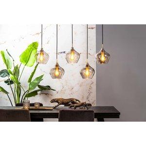 Light & Living Hanglamp 5L 104x20x120 cm RAKEL antiek brons+smoke