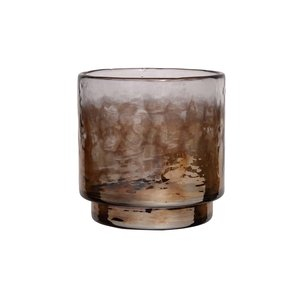 PTMD Senne Brown luster glass tealight round S