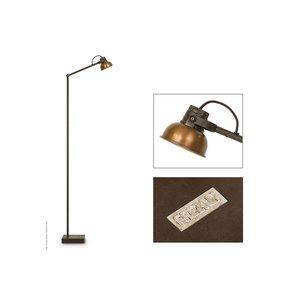 Frezoli vloerlamp Mazz Bruin patina L.843.1.100