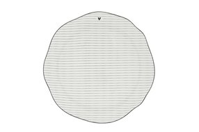 Bastion Collections Bastion Dinner Plate Stripes White/edge Black 27cm