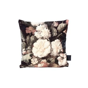 PTMD Kristy Green filled cushion flower print square S