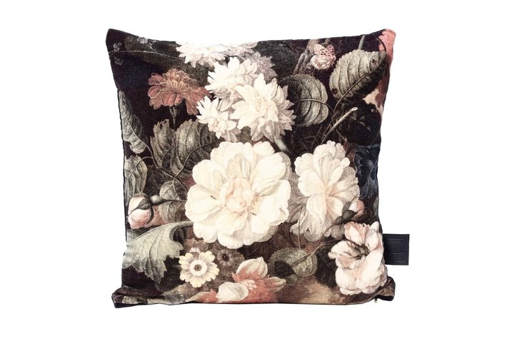 PTMD PTMD Kristy Green filled cushion flower print square S