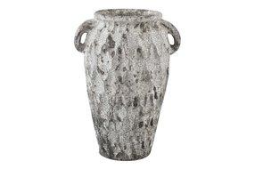 PTMD PTMD Antonis Grey ceramic jar ears pattern round M