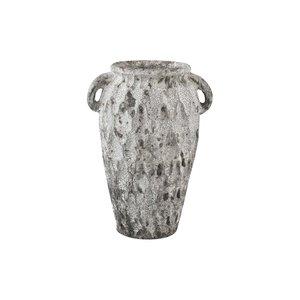 PTMD Antonis Grey ceramic jar ears pattern round M