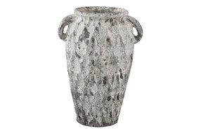 PTMD PTMD Antonis Grey ceramic jar ears pattern round S