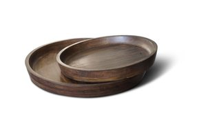 Brynxz set of wooden plates D.38-31 H.5-4