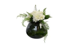 Haans lifestyle Haans    Vase | Candleholder Bol Glass Smoked Round