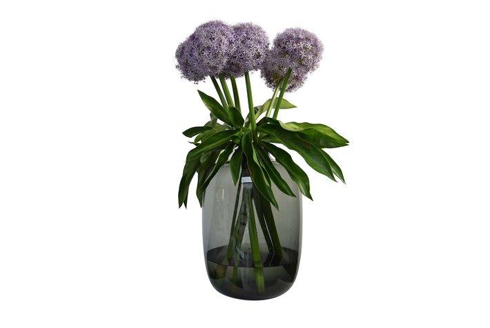 Haans lifestyle Haans Vase Small Neck Glass Smoked Round