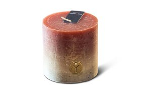 Brynxz rustic candle fading cognac D.10 H.10
