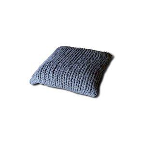Brynxz knitted cushion dark grey 45 x45 (100% cotton)