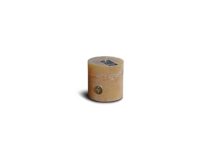 Brynxz rustic candle honey yellow D.10 H.10