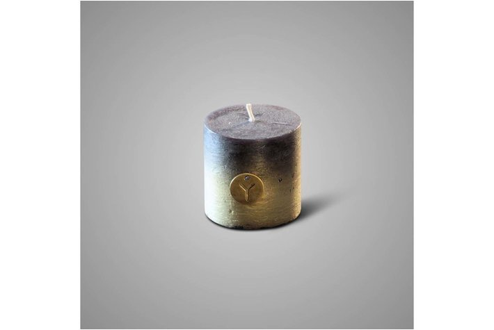 Brynxz rustic candle fading black D.10 H.10