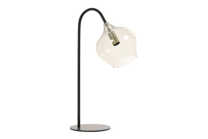 Light en Living Light & Living Tafellamp E14 28x17x50,5 cm RAKEL mat zwart+smoke