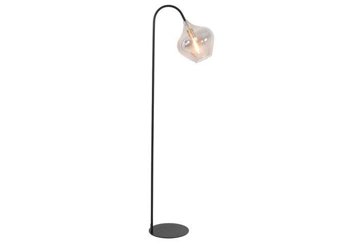 Light en Living Light & Living Vloerlamp 28x45x160 cm RAKEL mat zwart+smoke