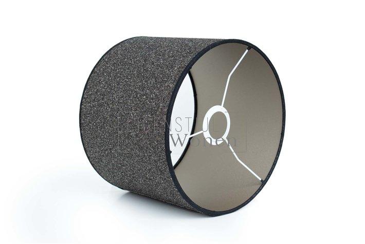 Eigenstijl Wonen Lampenkap cilinder steentjes donker KK20-20 -215358