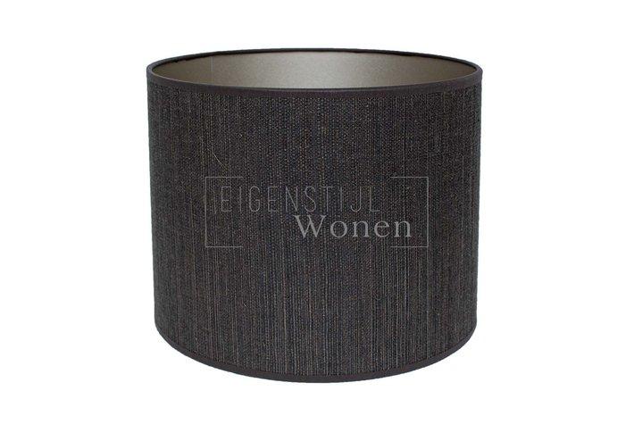 Eigenstijl Wonen Lampenkap cilinder antraciet streepje   KK20-20-070315