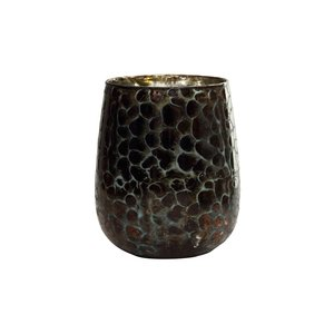 Christmas Joelle black print glass stormlight M