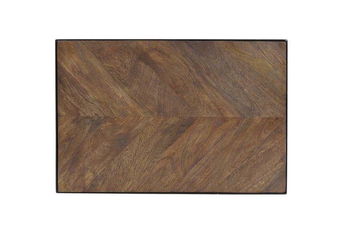 Light en Living Light & Living Bijzettafel 45x30x62 cm CHISA hout bruin-zwart