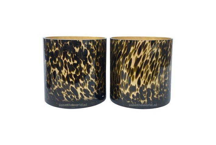 Eigenstijl Wonen Celtic gold cheetah Ø15 x H15 cm