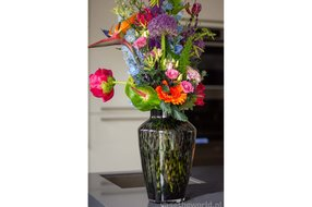 Vase The World Hudson grey cheetah Ø22,5 x H35 cm