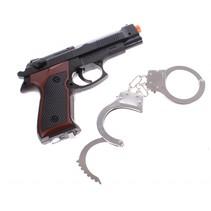 Politie speelset met pistool en handboeien 22 cm