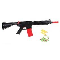 geweer Army Combat M16 68 cm zwart/rood