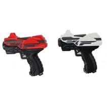 set Pro Pocket Duo foam 11 cm zwart/rood/wit 4-delig