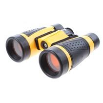 verrekijker 11 x 11 x 4 cm geel/zwart