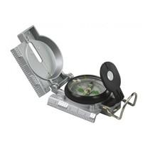 kompas Expeditie kunststof 7,5 x 6 x 3 cm zilver