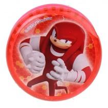 lichtgevende jojo Sonic Boom 5 cm rood