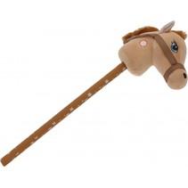stokpaard pluche 68 bruin